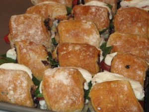 Some of the sandwiches for the box lunches