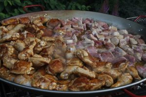 Chicken and pork browning