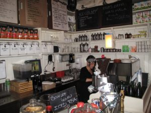 The barista - very busy at work