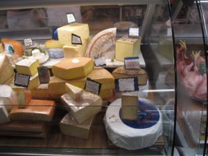 The majority of the cheeses sold at Marlow & Daughters are from small producers in the North East.
