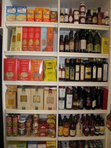 Pastas, oils, and vinegars