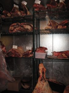 This is the meat locker at Marlow & Daughters.