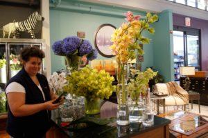 Ania Szurawski - floral designer - busy at work