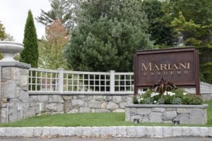 Here's the entrance to the Mariani Gardens parking lot.