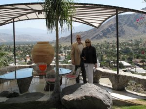 Here I am with Harold Meyerman, who owns Bougain Villa with his wife, Dorothy.