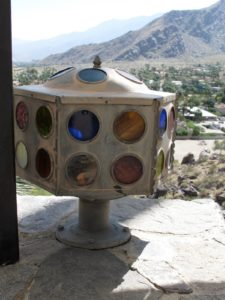 A handmade outdoor lantern