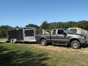 My truck with trailer was parked and ready to be loaded.