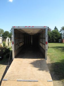This trailer is great for transporting furniture, equipment, and plants.