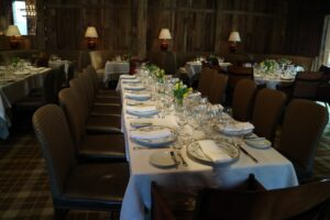 This is The Harvest Dining Room at The Barn.