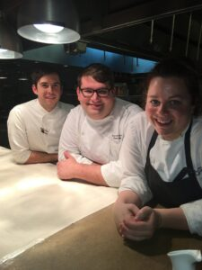 Chef Cassidee with her two sous chefs, Trevor and Joey
