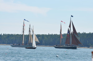 Here are two classic cutters as they approached Somes Sound. A cutter is a small to medium-sized watercraft designed for speed rather than for capacity.