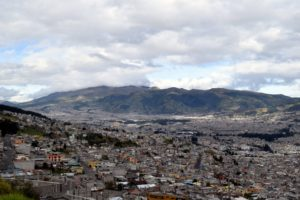 Before we rode the boat, I spent three days in Quito, Ecuador, with my family. Here is a photo I took of Quito from a big hill. Quito is the highest official capital city in the world.