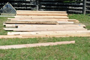 One by eight-inch red cedar boards were used for the walls. Red cedar is more expensive, but it is also a leading material for wood paneling and siding. It is durable, beautiful and won't swell or buckle with changes in humidity.