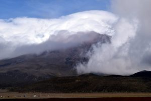 Here is a mountain in Quito, but what inspired me to take the photo was all the cloud cover - it is just so pretty.