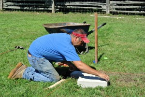 This process takes a lot of time and care - a well built coop must sit on a well-built foundation.