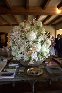 Everyone adored the massive white flower arrangement in the Living Hall. It was a very successful and inspiring reception. Please go to the College's web site to learn more about their programs and missions. https://www.coa.edu
