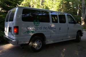 Because of the large group, the college provided vans to shuttle guests from their cars at the nearby Acadia Institute of Oceanography to my home. http://www.acadiainstitute.com