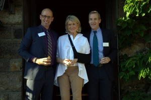 Here I am with COA President, Darron Collins '92, and Board Chair, Will Thorndike.