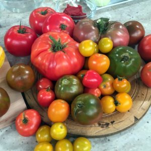 We wanted to make ratatouille because there is such an abundance of vegetables in the garden right now - especially tomatoes!