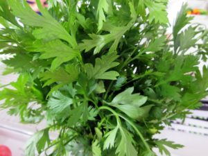 To finish, add some fresh cut parsley.