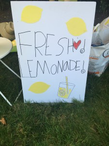 I always try to stop at lemonade stands - this one is managed by Darcy Miller's youngest daughter when her sisters go away to camp. The stand opens for one day and all proceeds go to charity. It did very well this year!