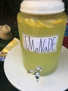 Homemade lemonade is such a summertime favorite, and I love the homemade label on the front.