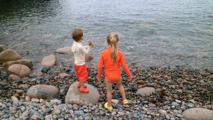 Hunter's Beach is a secluded cobblestone beach nestled in a small cove a short distance from Bar Harbor. The beach is only 100-yards long, but great for playing on the rocks.