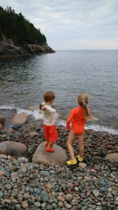 Jude and Truman love the water. Here they are at Hunter's Beach throwing rocks to rocks.