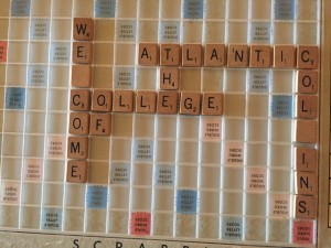 I love playing Scrabble® and this is my Scrabble® board, which is always set-up in my Living Hall. On the day of the party, I spelled out a nice message to COA President, Darron Collins and all the guests.