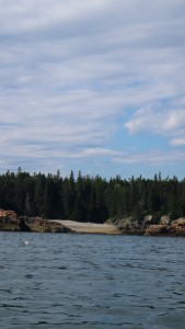 This is a view of Hunter's Beach from the water.