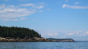 After passing the beach, we circle the island toward Otter Cliffs.