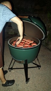 And, the Big Green Egg comes in seven different sizes to fit any family's cooking needs. Chef Pierre was able to fit all the salmon filets on the Egg at one time.