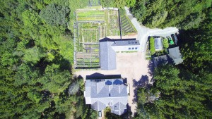 Here is another view of the beautiful garden from above.