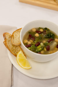 And this is our Escarole and Bean Soup served with fresh bread. (Photo by Wire Image)