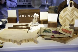 Some of our past vendors include: custom state shaped cutting boards and cheese boards, plus muddlers, cake stands and other unique pieces from Heirloom. http://aheirloom.com