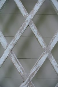 I love the diamond-shaped pattern on each trellis.