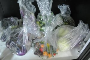 The vegetables are then stored in the refrigerator. I will take these to Maine for the weekend - I can't wait.