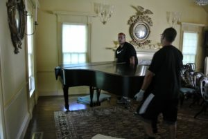 Brian has been moving pianos for about 30-years. On this day, mine was the first of several Brian and Sean would move.