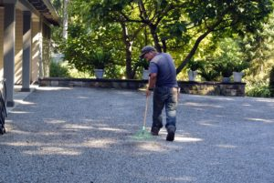 And, up by my Winter House, the gravel driveway is raked. This is also done regularly to keep the areas even and to pick up any debris along the way.