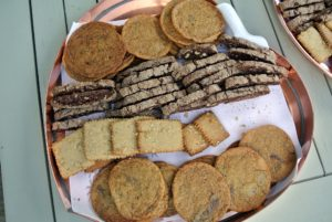 For this group - an assortment of homemade cookies and biscotti! They were a big hit.
