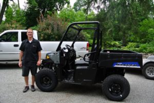 Polaris dealer, Rob Herman, recently delivered our new Polaris Ranger EV. It is among the newest models available.