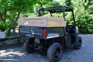Polaris utility vehicles can be outfitted with many different and useful accessories, such as a windshield and roof. These features are easy to install and arrived just a few days later.