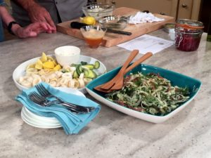 Beautiful salad, calamari and fried zucchini - wonderful, tasty, and so easy to make!