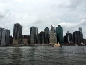 The boat passed several points of interest. Here is a lovely view of New York City's skyline.