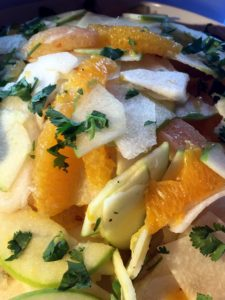 And here is the citrus-jicama salad I prepared.