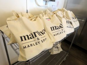 Each attendee received a gift bag as they left. We love using light, canvas totes, that everyone can use again and again.