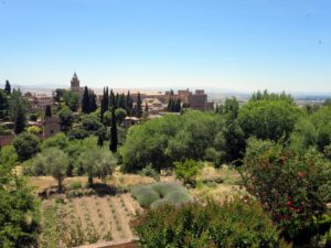 The property is huge - lots of wonderful Mediterranean plantings including olive trees, lavender, cypress, and pomegranate trees. Again, Granada can be seen in the distance. What a beautiful place to visit - thanks, Ryan.