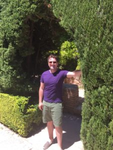 Ryan enjoys visiting historic gardens whenever he can. This was his first time touring the ancient citadel of Alhambra.