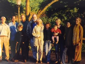 This was taken during a trip to Napa nearly 20-years ago. It includes my nephew, Morgan, Molly and Donn's oldest son and now CEO of Chappellet vineyard, Cyril, son Jon-Mark, Lygia's son, London Chappellet-Volpini, Donn, Molly, Lukie Chappellet-Volpini, me holding baby Reese Chappellet, his mother, Sara, and Lygia.