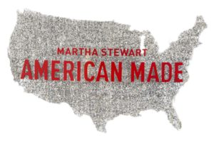 This is our 2014 American Made logo. Every year, our talented team comes up with something new. Can you guess what the silver material is? It's a glittering silver rendering of the United States made out of Mylar.